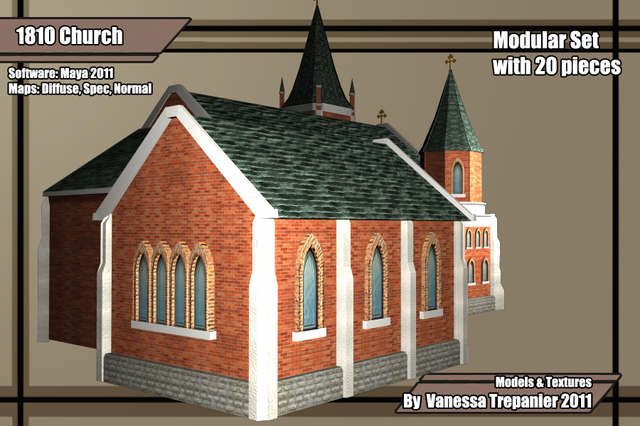 A model of my hometown church